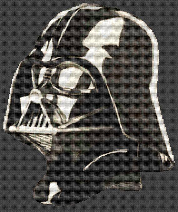 Pdf Cross Stitch Pattern For Darth Vader Star Wars Cross