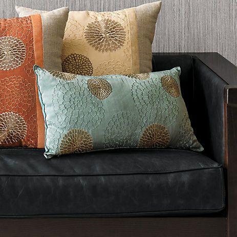 Chrysanthemum Lumbar Pillow 22x13 many colors gumps $78