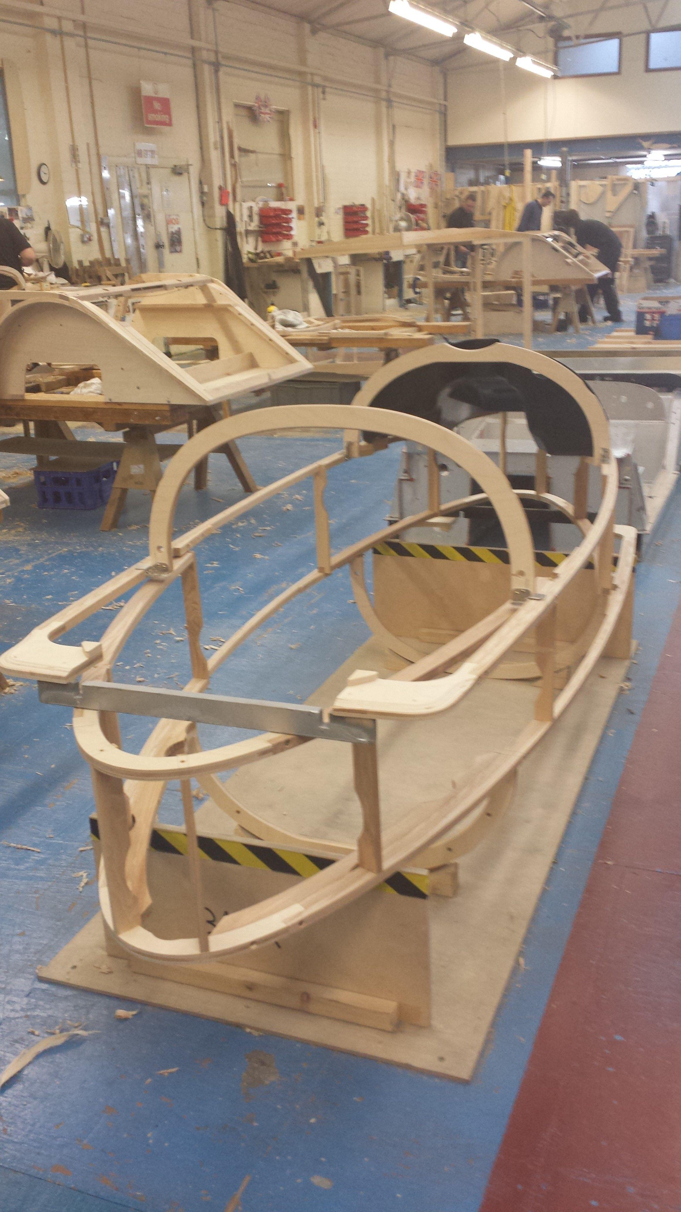 Three Wheeler Frame : Morgan wheeler wooden body frame ecomachines