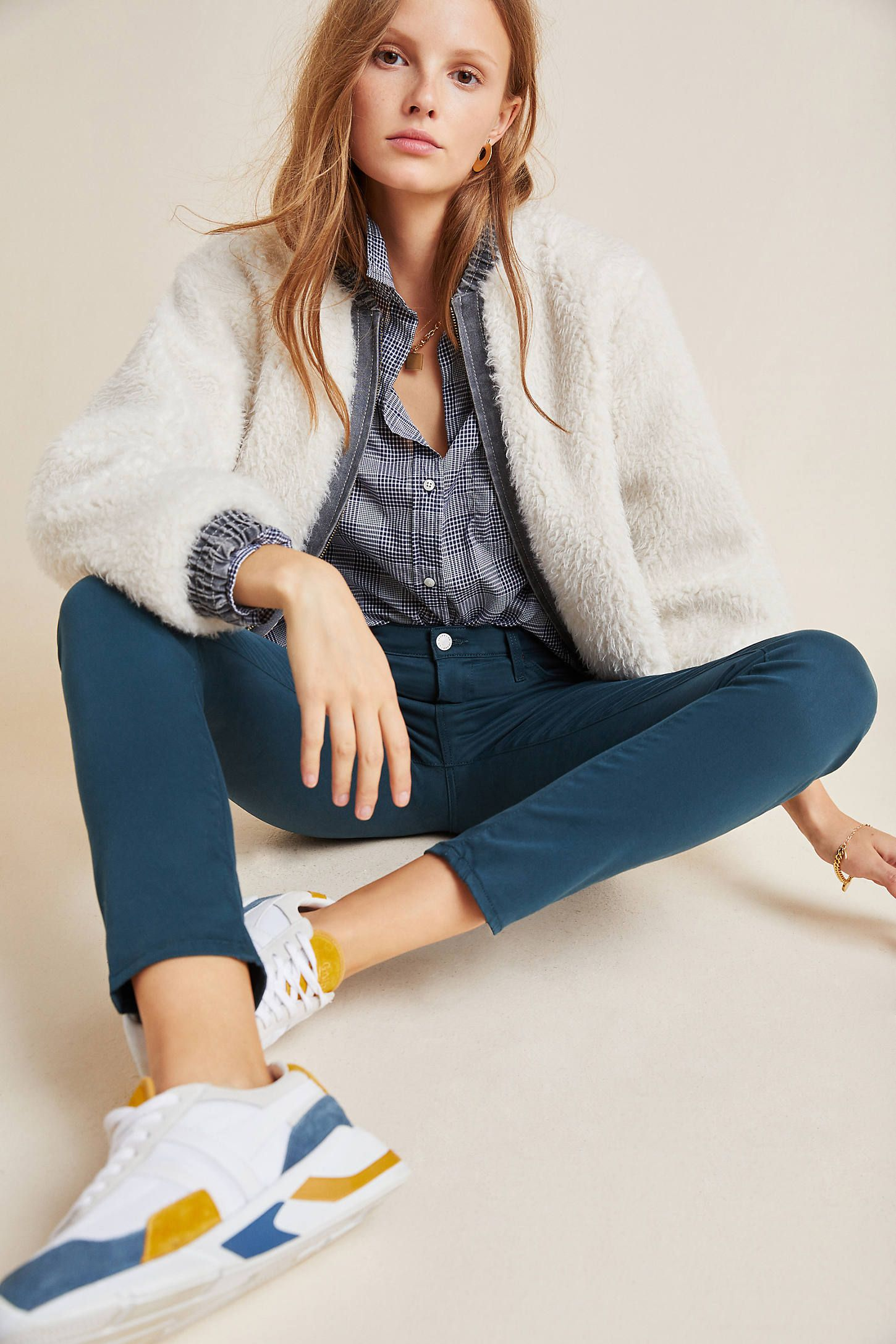 AG The Prima Mid-Rise Skinny Jeans by in Blue Size: 27, Women's Denim at Anthropologie 1