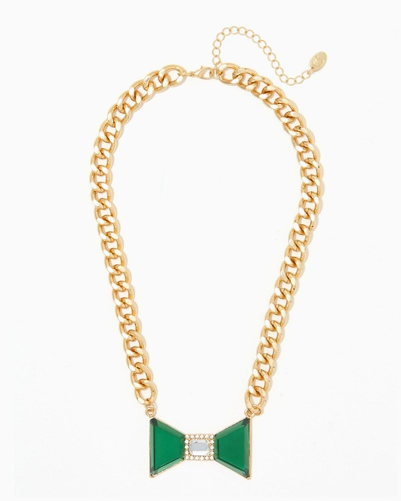 charming charlie | Bow and Chain Necklace | UPC: 410007368797 #charmingcharlie