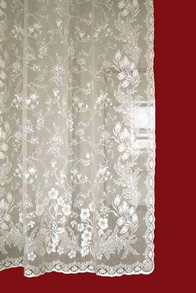 pair lace item no org long white curtain length flat floor vintage leaf panels curtains farm cotton laurel glif