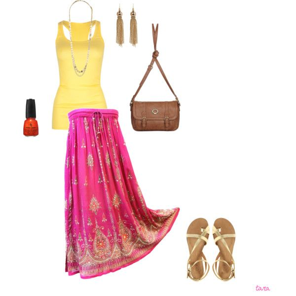 pretty colorful, created by tarakelly on Polyvore