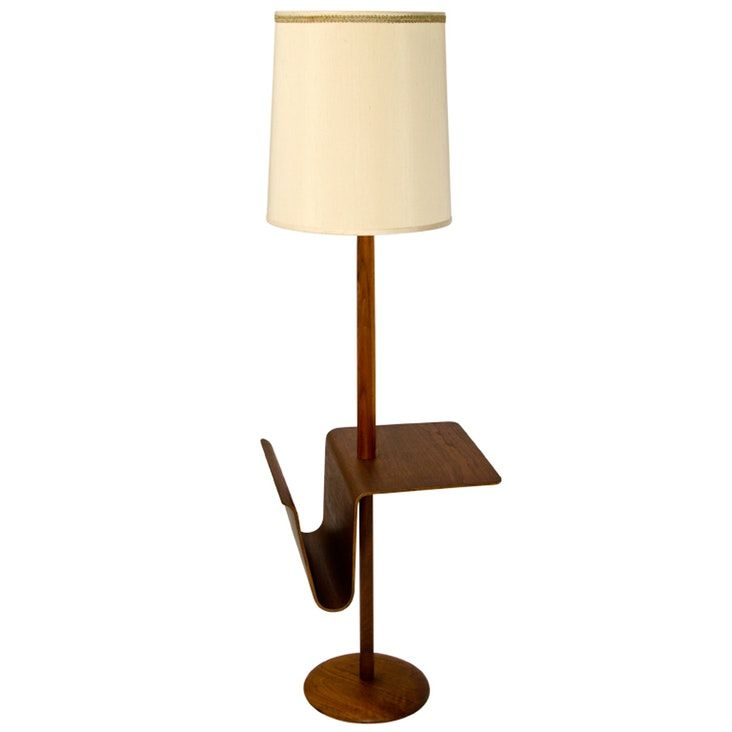 Floor Lamp With Table Attached Mid Century Bentwood Laurel Floor Lamp  Floor Lamp Teak And Woods