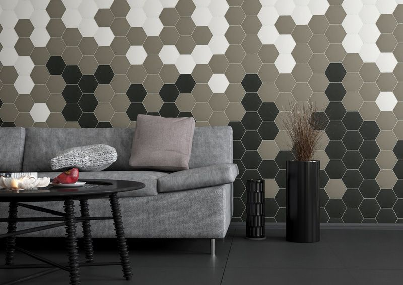 Hexagon Tiles On Walls
