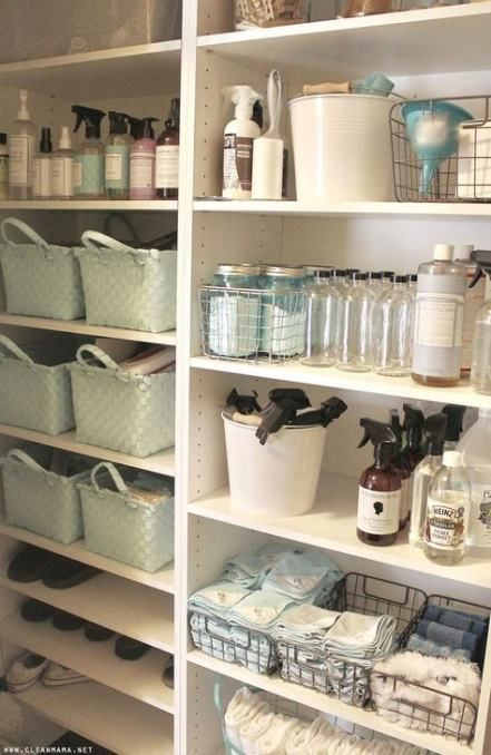 Laundry Cupboard Organisation Cleaning Supplies