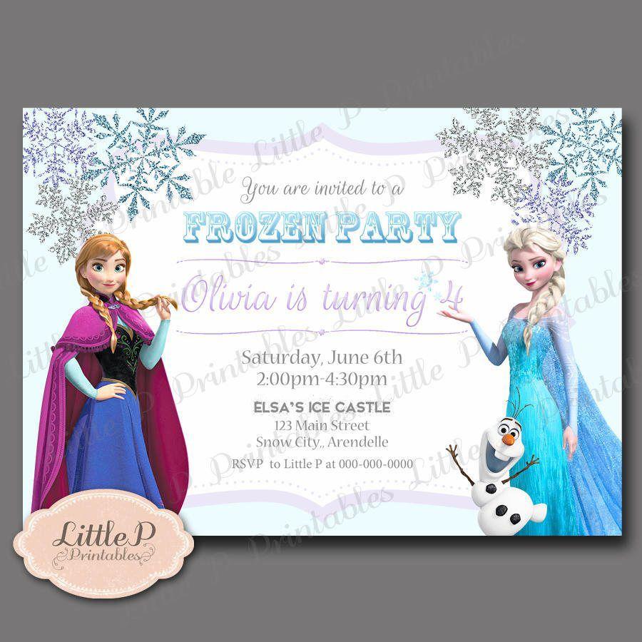 Frozen Invitation. Frozen Birthday Invitation. Frozen Party ...