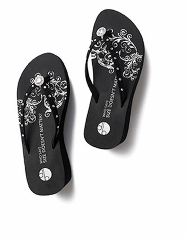 2f34d07f9 CLEARANCE! DB Flip Flops - Girl Two Doors Down Pave Diamond Platform Sandals  in Black