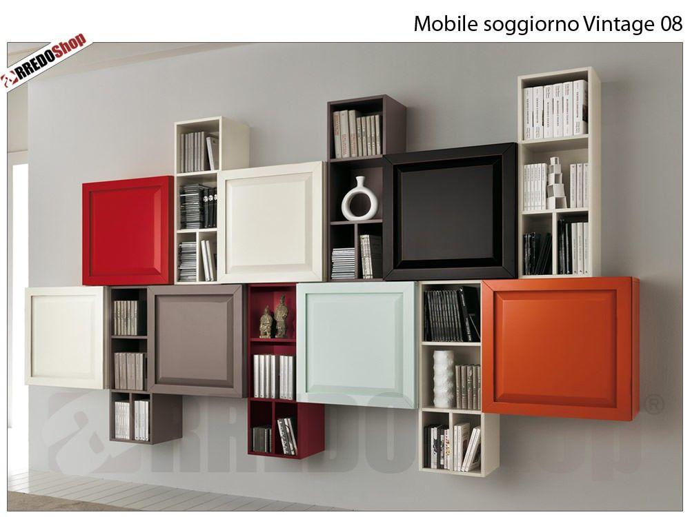 Soggiorno Vintage ~ Mobile soggiorno vintage 08 in stile classico disponibile in