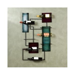 metal wine decor | Details about Metal Wine Rack Wall Mounted Holder Storage Home Decor ...