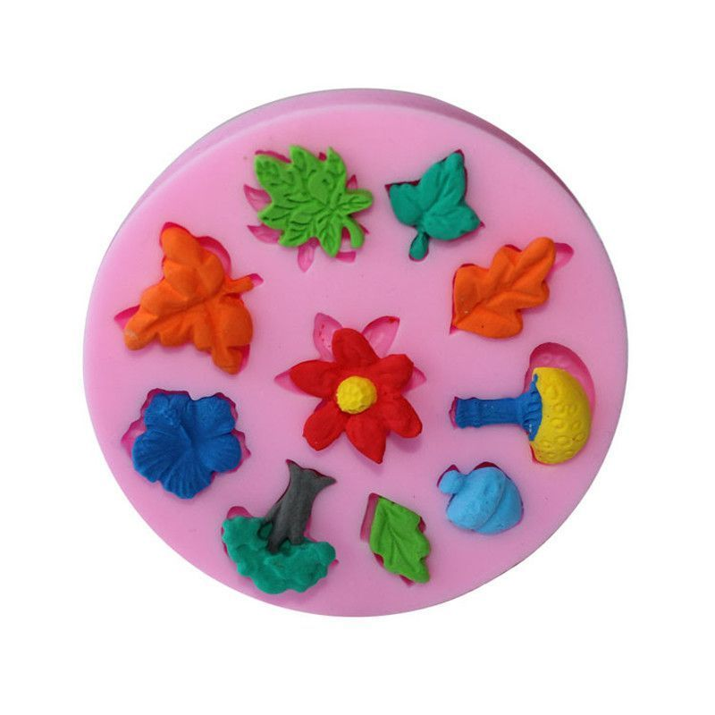 Trees, Leaves, Flowers Silicone Mold
