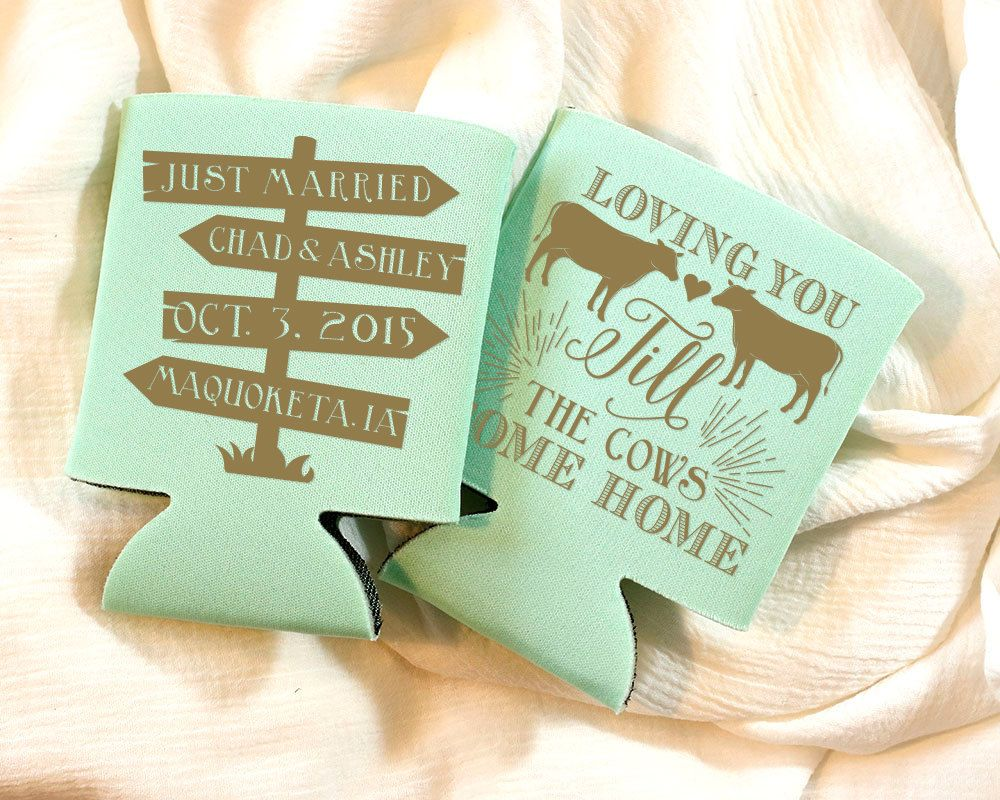 Loving you till the cows come home wedding favors bridal shower
