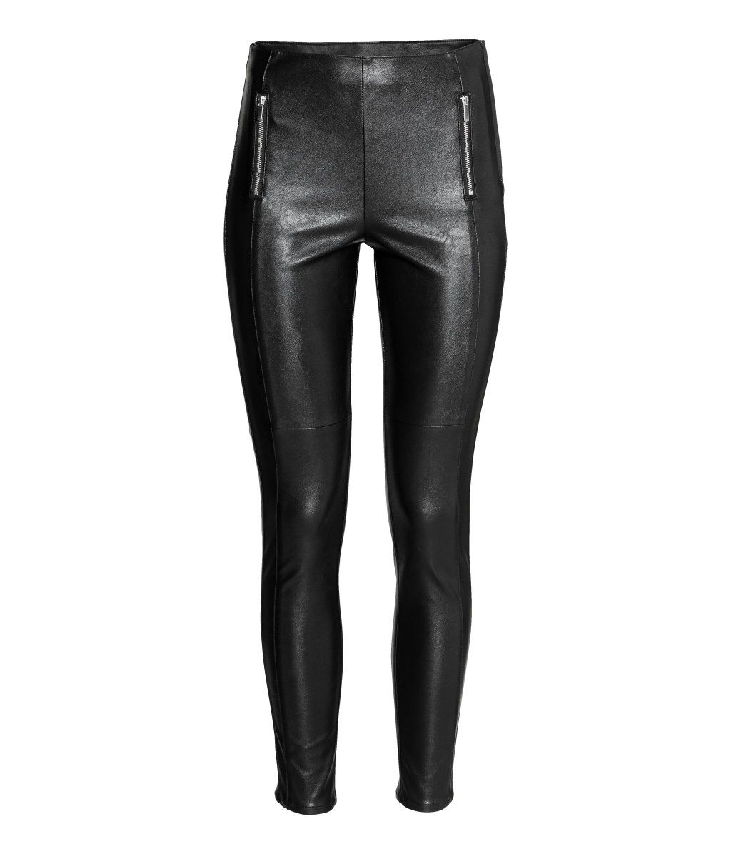 ridicat concept nou cumpara popular Black. Leggings in imitation leather. Mock front pockets with zips, visible  zip at side, and slim legs. | H&m leggings, Vegan leather leggings, Zipper  leggings
