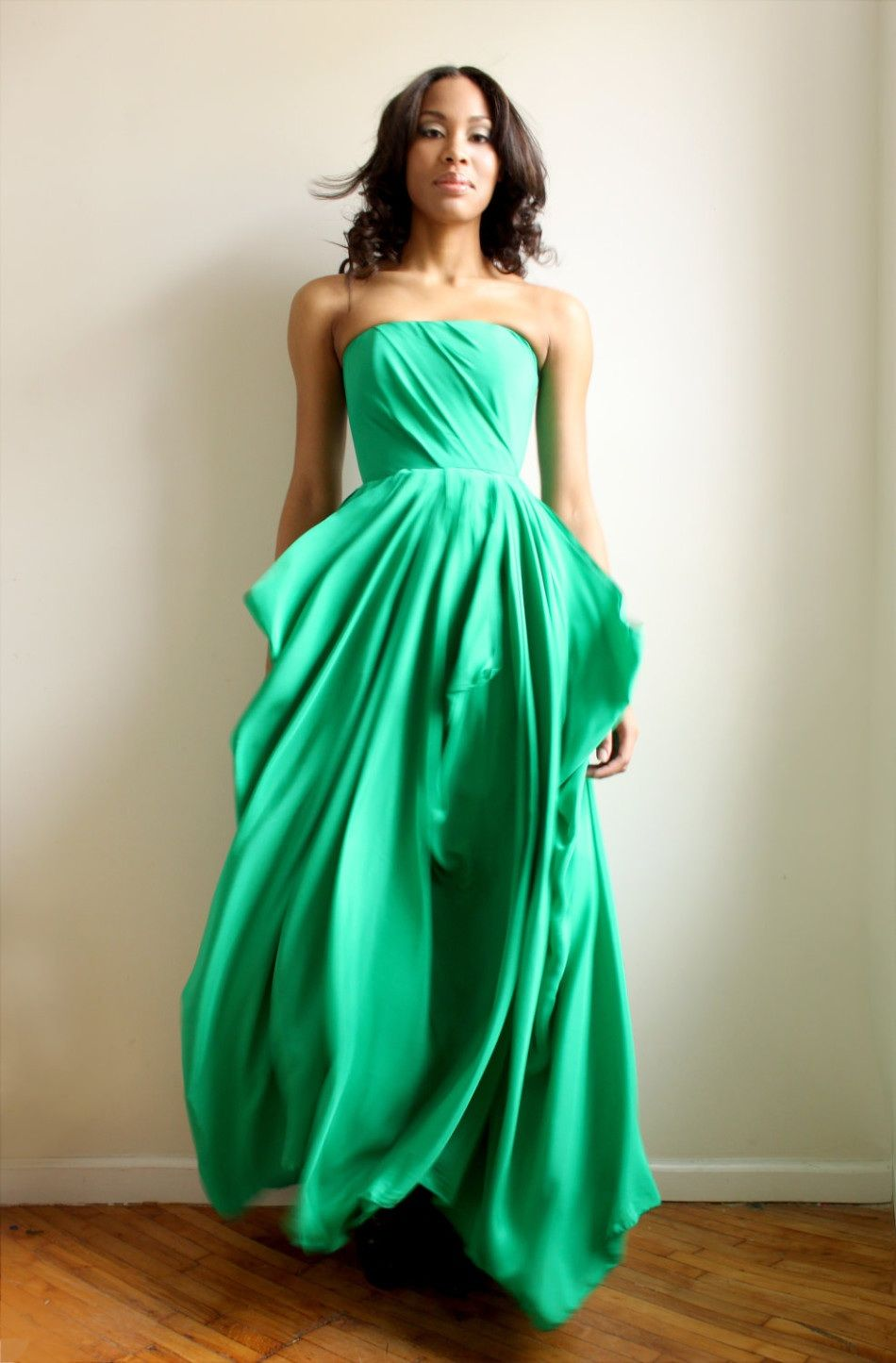 Flowing Green Dress