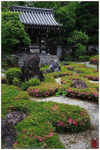 Bell tower shozen ji temple kyoto jardines japoneses pinterest japan garden Jardin zen casero