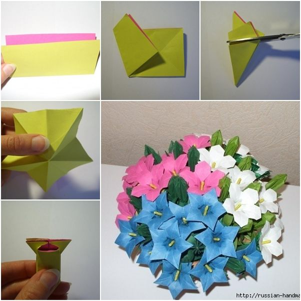 Diy Beautiful Paper Origami Lily Flower Bouquet Diy Tutorials Origami Lily Origami Flowers Tutorial Origami Flower Bouquet