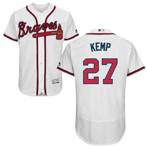 9c70d699 discount code for braves 27 matt kemp white flexbase authentic collection  stitched mlb jersey cc12b ed0e2