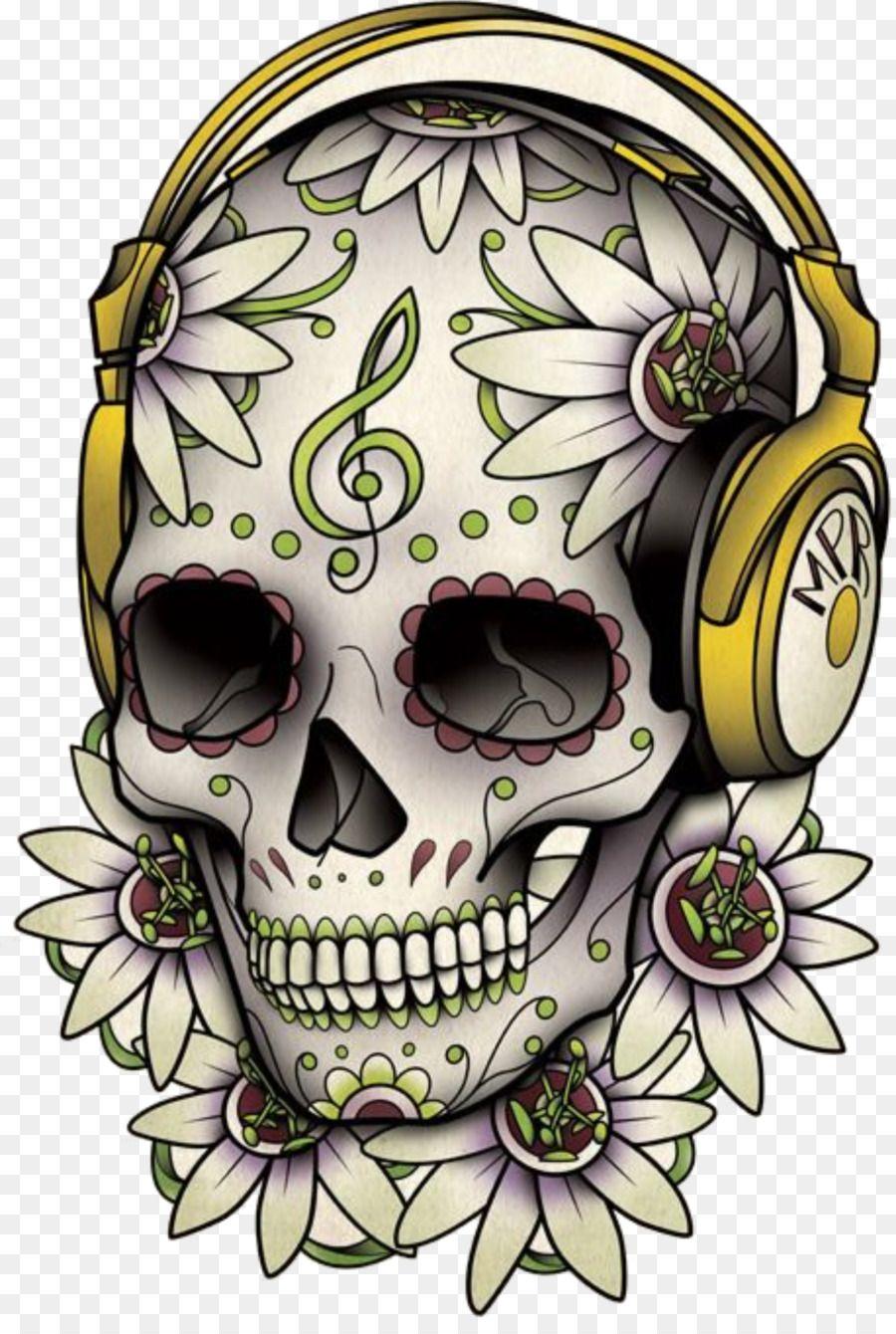 Calavera Tattoo Skull Day of the Dead Drawing - sugar skulls ...