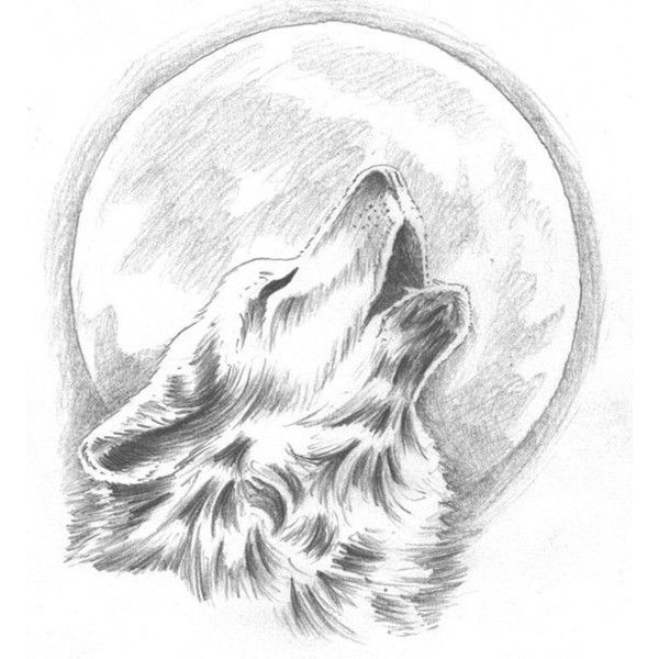 howling wolf tattoo- change the moon to our dream catcher behind the ❤ liked on Polyvore featuring accessories and body art