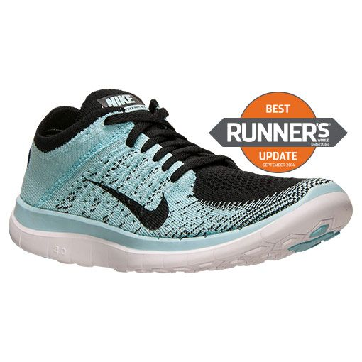 sports shoes 5449f 77876 ... Womens Nike Free Flyknit 4.0 Running Shoes Finish Line BlackGlacier ...