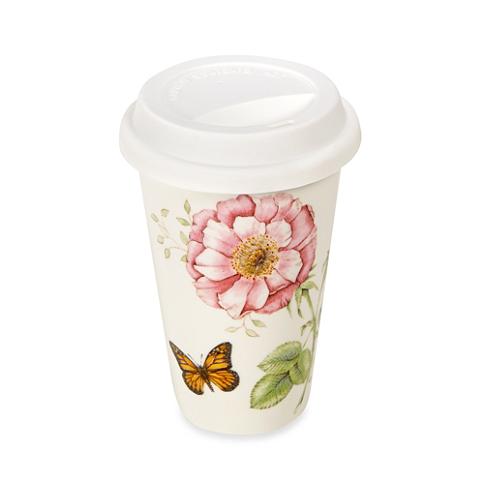 LENOX 12Ounce Travel Mug 9.50 Lenox butterfly meadow