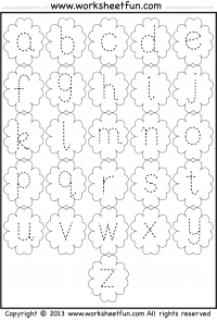 Small Letter Tracing Lowercase Worksheet Flower Preschool