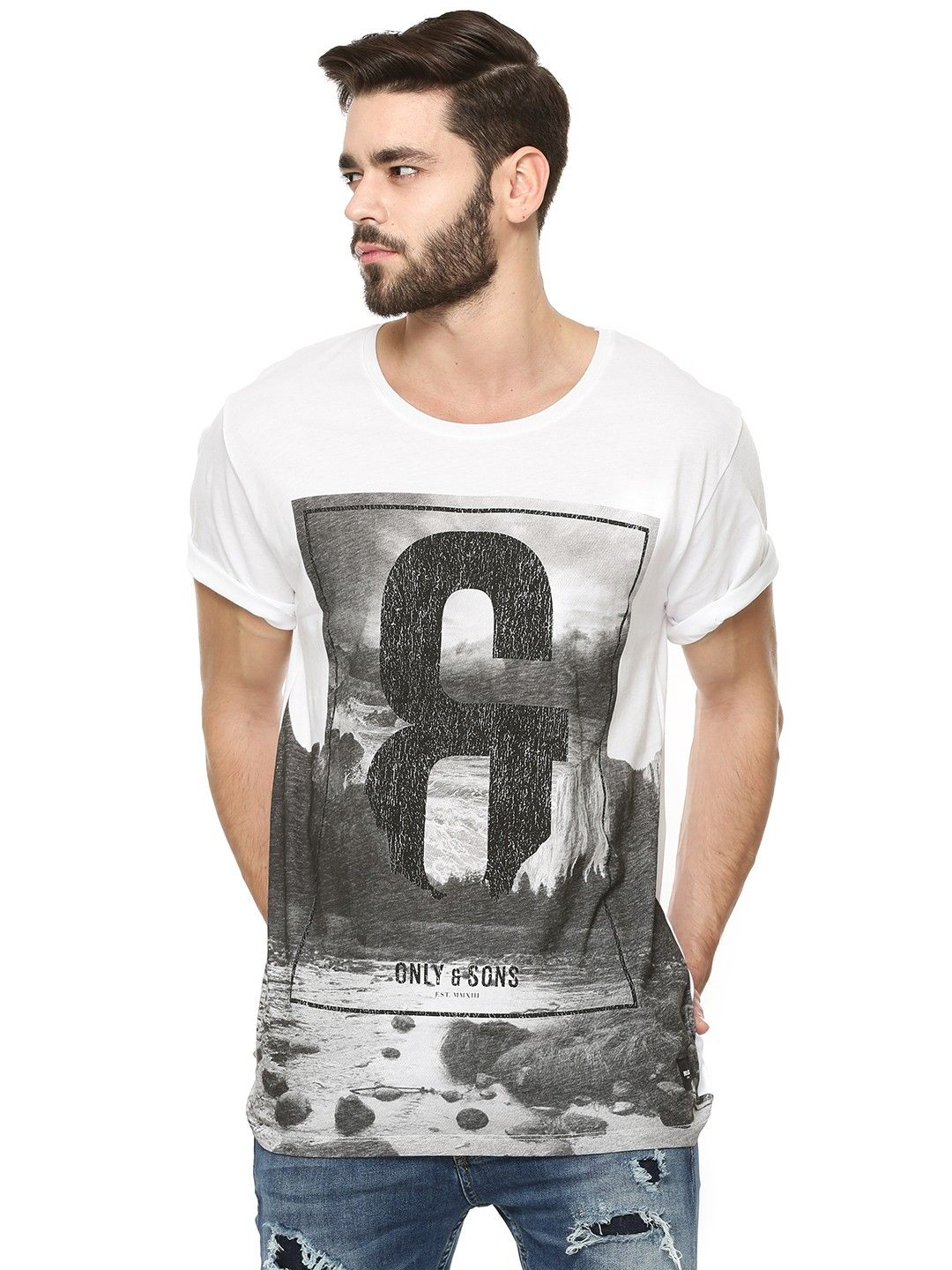 Only Sons Graphic Print T Shirt For Men S Multi