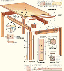 Dining Table Woodworking Plans Simply Lift One End Of The Top And Pull Extension Leaves Into Farmhouse To Build How