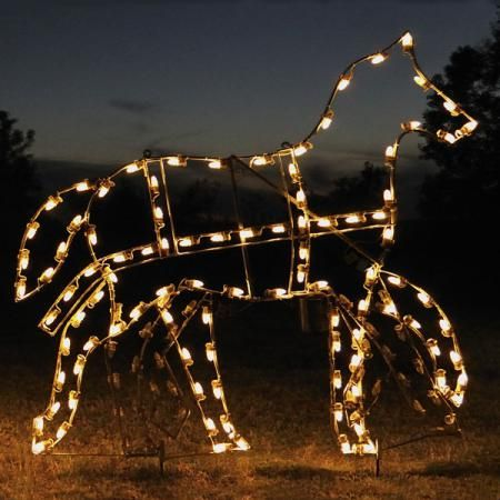 Victorian Horse C7 LED Light Display 5.7 ft W $799.00 Animated Victorian Horse Light Display perfect for business or residential display. Professionally designed and built by hand in the U.S.A., using only the highest quality materials.