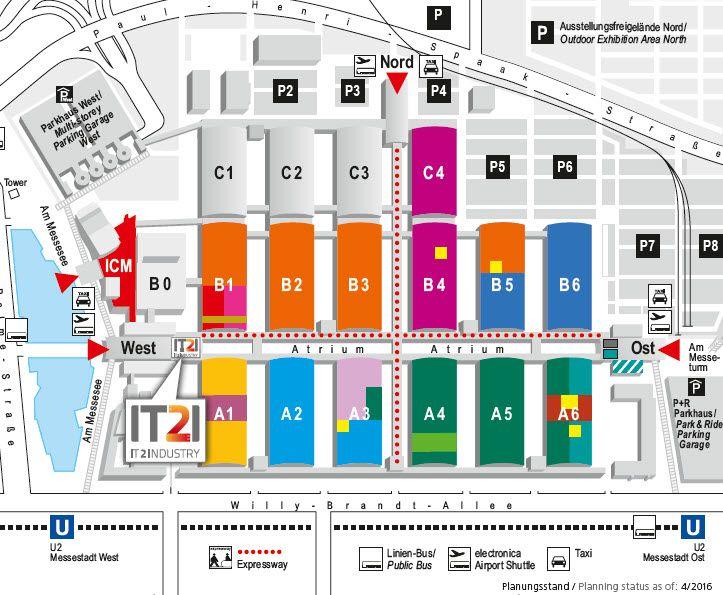 IT2Industry Internationale Fachmesse & Open Conference @ electronica 2016 (München, 08.-11.11.2016) Geländeplan #IT2I16next #ele16