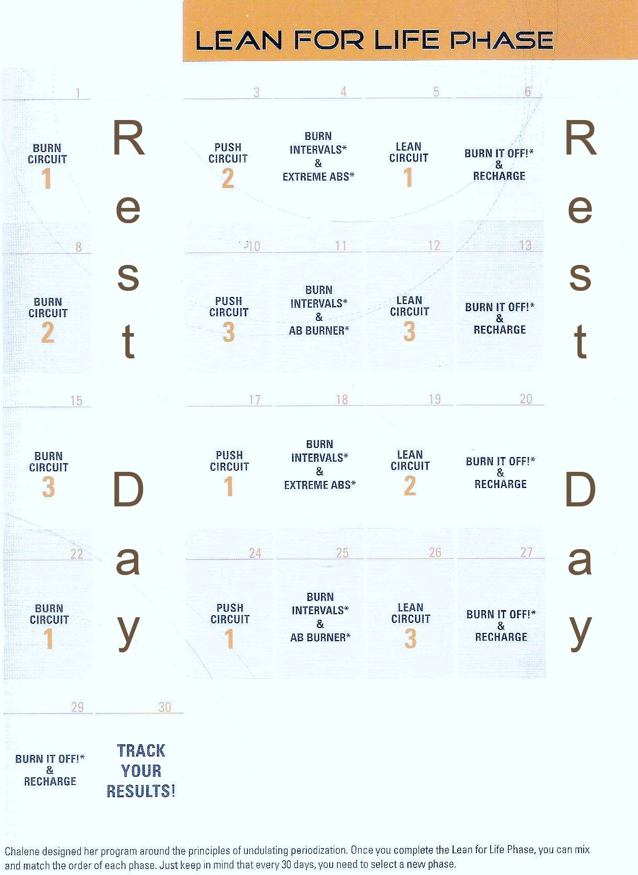 Chalean Extreme Body Makeover Calendars Fitness Pinterest Body