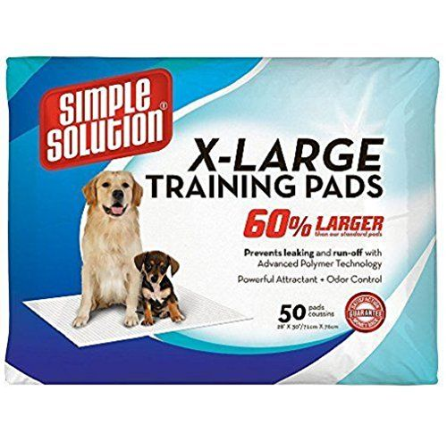 Simple Solution preventing runoff and messy tracking Training Pads 50 Pads Extra Large ** You can get more details by clicking on the image.(This is an Amazon affiliate link and I receive a commission for the sales)