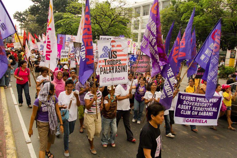 Protest During International Womens Day Celebration Manila Philippines Thousa Sponsored Affiliate Paid I International Womens Day Philippines Manila