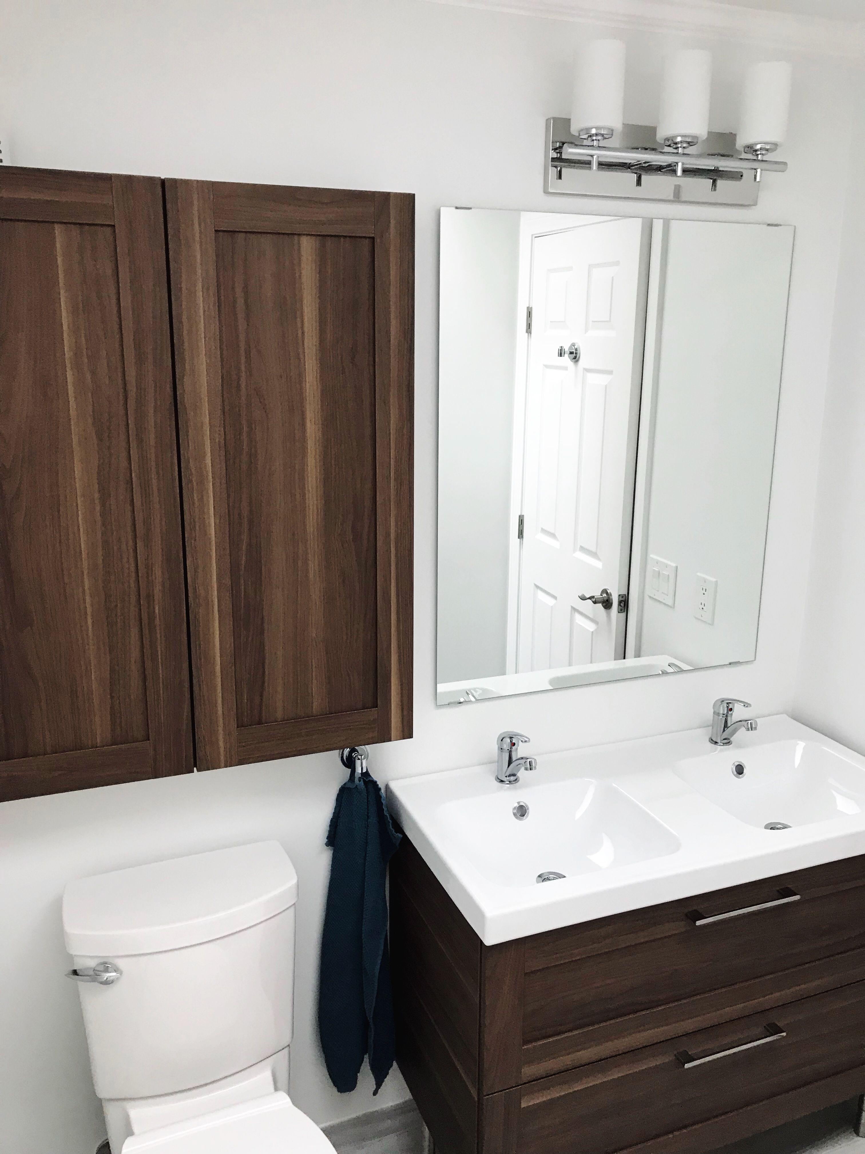 Ikea Godmorgon Walnut Bathroom Vanity With Double Sinks Ikea