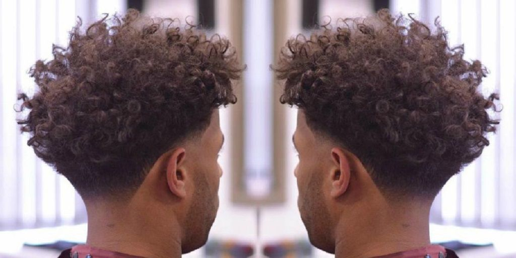 Black Men Hair Curly Taper Fade Undercut Male Model Female Model