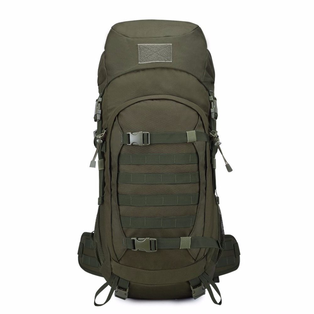 Mountaintop 50L Internal Frame Tactical Backpack 600D Polyester ...