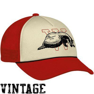Adidas Wisconsin Badgers College Vault Trucker Hat Cardinal Hats For Men Vintage Cap Wisconsin Badgers