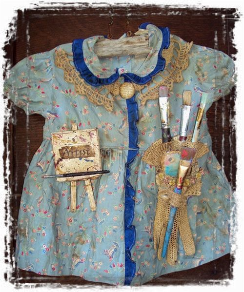 Altered Dress=By Joanna Pierotti   I have always wanted to turn a child's dress into artwork...I love this