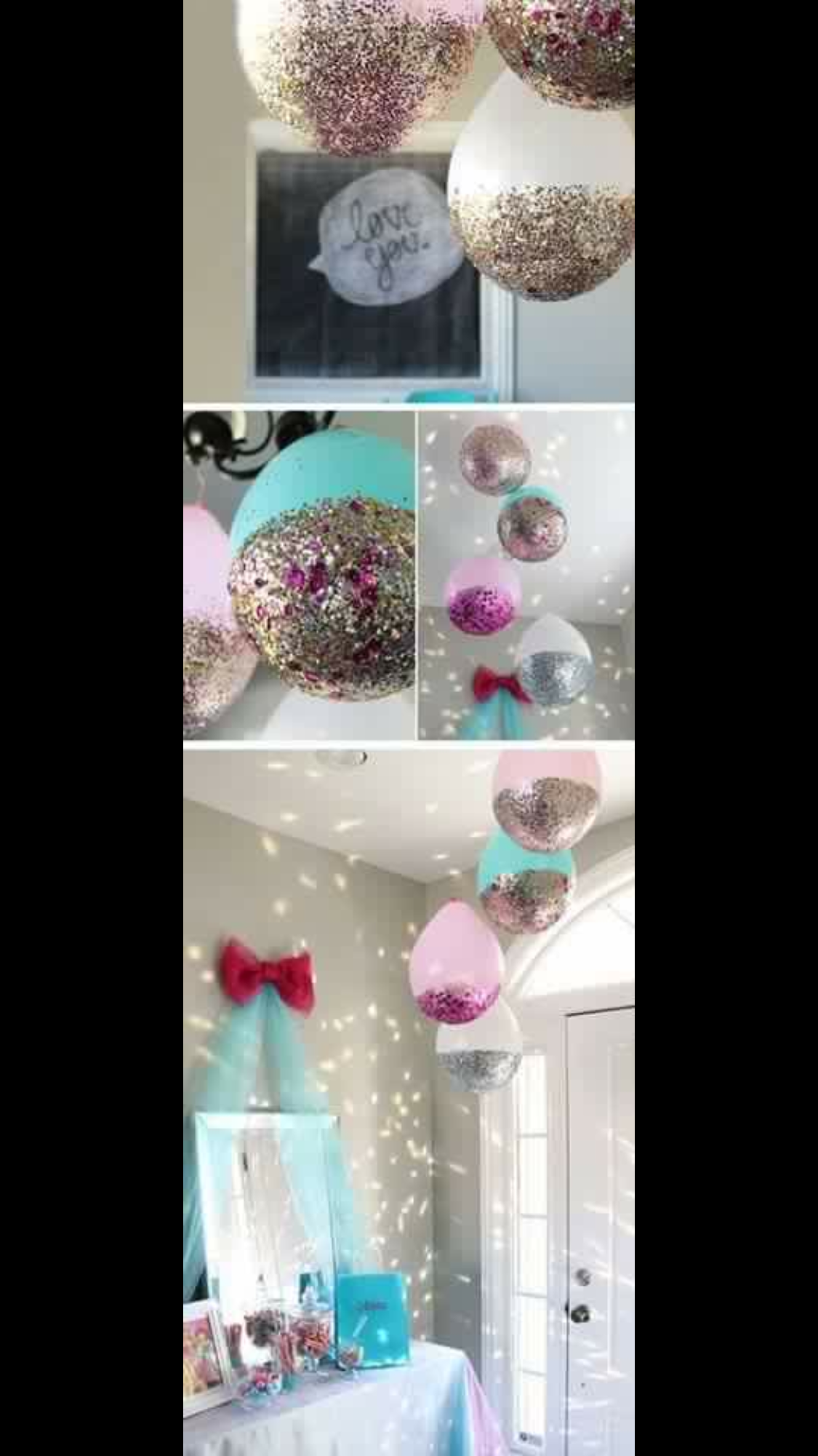 Glitter Balloons Would Be Fun At A Birthday Party