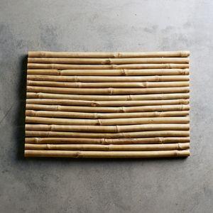 de bain en bambou naturel
