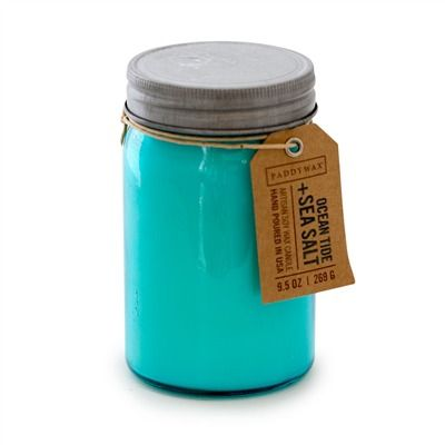 Mason Jar Candle - Ocean Tide & Sea Salt (491571770), Soy & Beeswax Candles & Vintage Candle Holders | bambeco