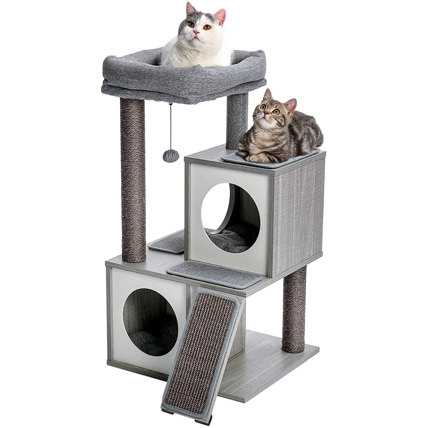 Pawz Road Cat Tree Luxury Cat Tower With Double Condos Spacious Perch Fully Wrapped Scratching Sisal Posts And Repl Luxury Cat Tree Luxury Cat Cat Tree House