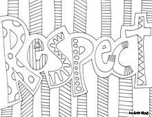Respect Quote Coloring Pages Coloring Pages Coloring Books