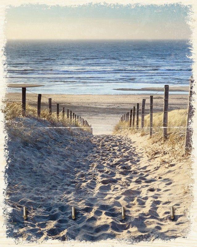 Wohnaccessoires Niederlande olha rohulya weg zum nordseestrand in gold sonnenuntergang