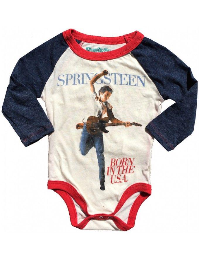 ac762212f Bruce Springsteen Raglan Onesie | PARTY: Baby Boy Shower - Bruce ...