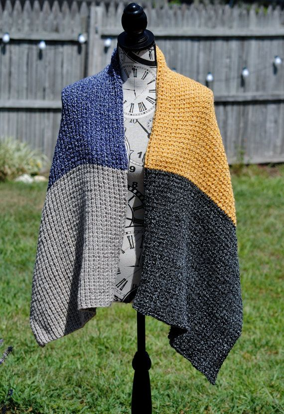 Hand Knit Cozy Shawl FREE SHIPPING by SpindleCityKnits on Etsy
