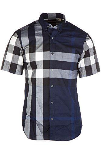 7d3a8b659dcd BURBERRY Burberry Men S Short Sleeve Shirt T-Shirt Fredpkt4636B Blu.   burberry  cloth