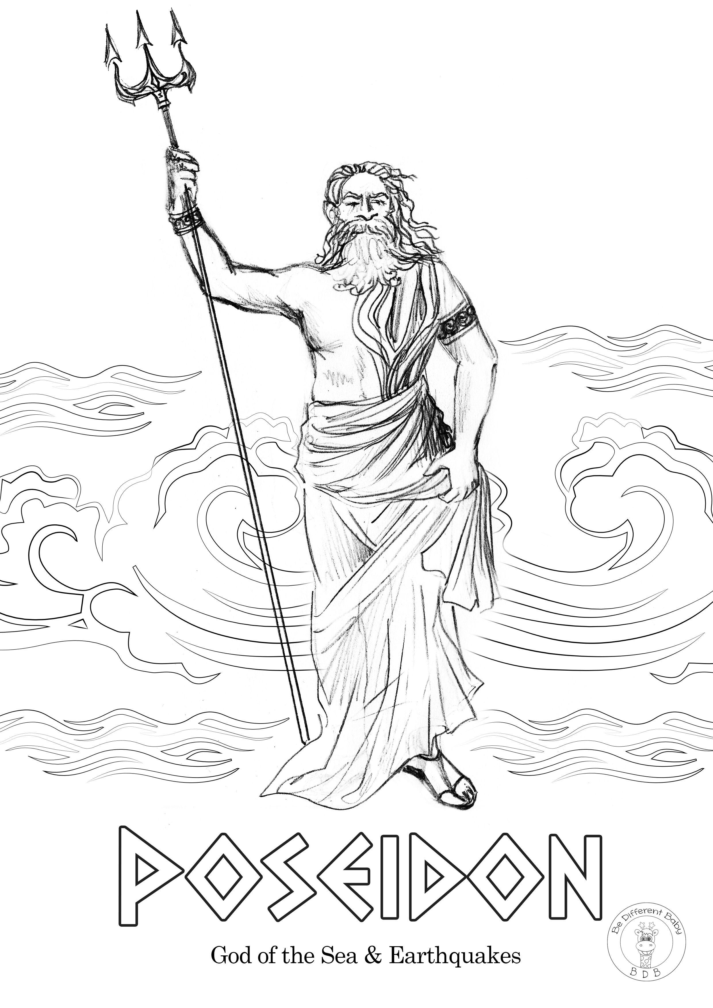 Greek Gods Coloring Pages Be Different Baby God Illustrations Greek Gods Greek Mythology Art