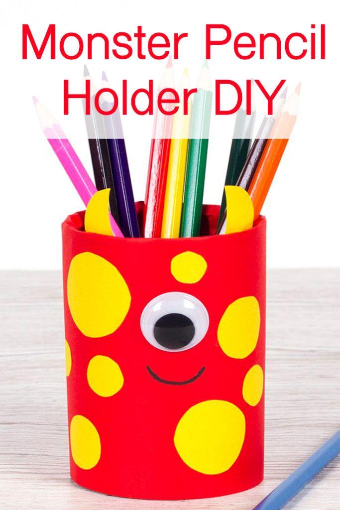 Monster Pencil Holder Diy Diy Pencil Holder Diy Holder Pencil