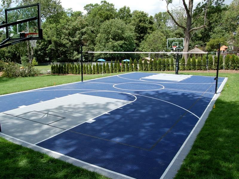 Backyard Courts Home Gyms Sport Court Of St Louis Backyard Court Backyard Sports Home Basketball Court